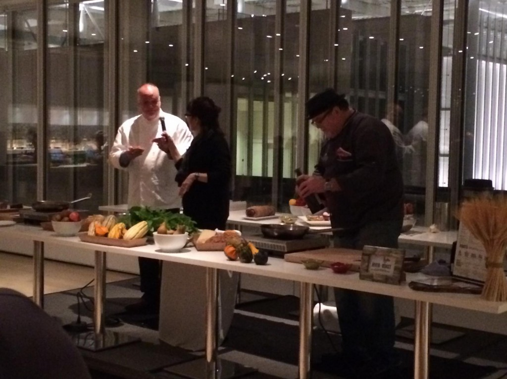 Chefs Tony Mantuano & John Hogan face off in the 5th annual quickfire challenge at Farm to Fork!